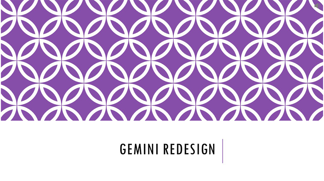 Gemini Presentation Redesign Slide 1