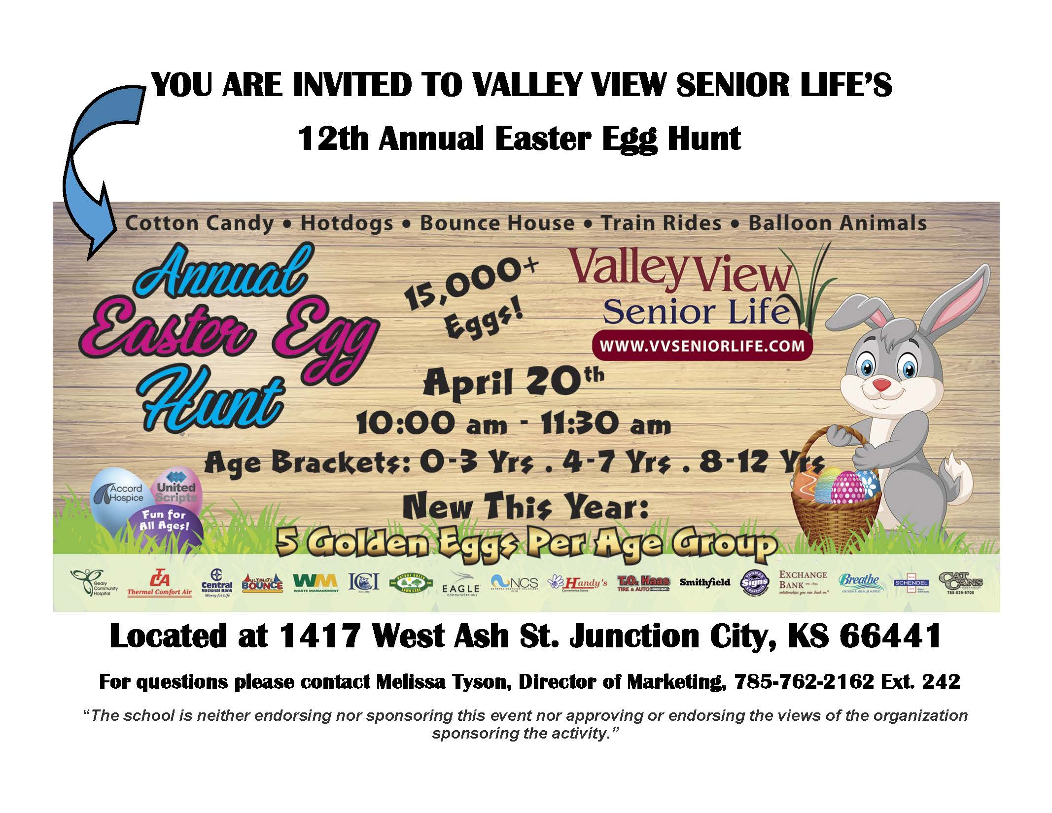 Picture of the 12th Annual Easter Egg Hunt flyer